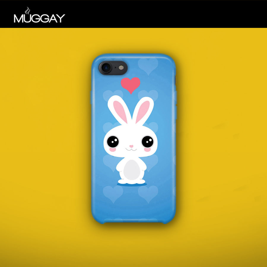Mobile Covers -  Rabbit with blue background