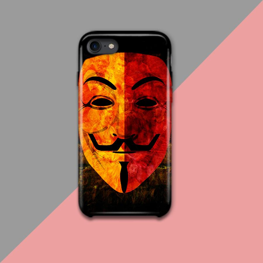 Anonymous Mask Design Phone Case - Muggay.com - Mugs - Printing shop - truck Art mugs - Mug printing - Customized printing - Digital printing - Muggay