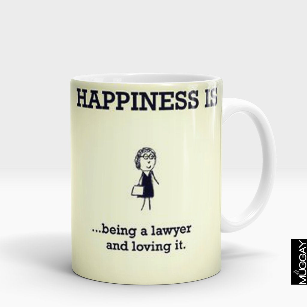 'Happiness is Being a Lawyer' Mug