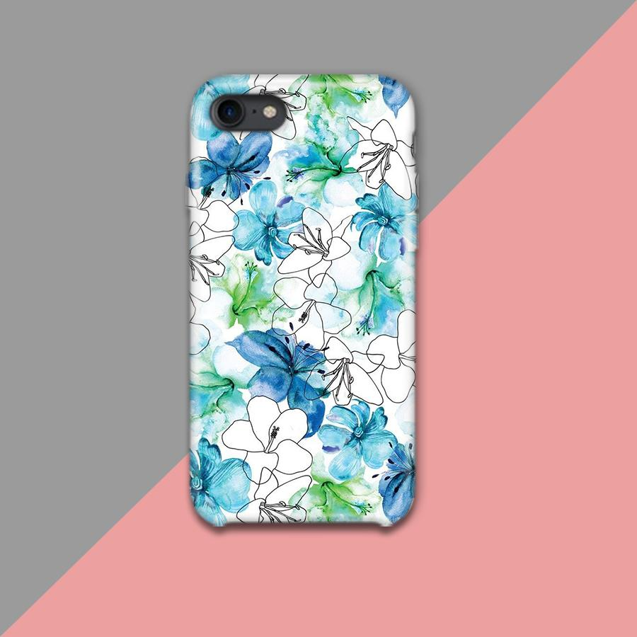 Blue Green and White Flowers Design Phone Case - Muggay.com - Mugs - Printing shop - truck Art mugs - Mug printing - Customized printing - Digital printing - Muggay