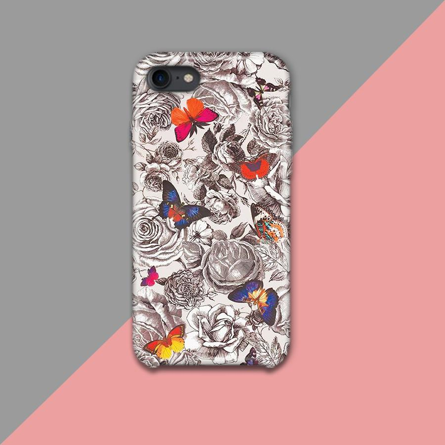 Tropical seamless flower Pattern Design Phone Case