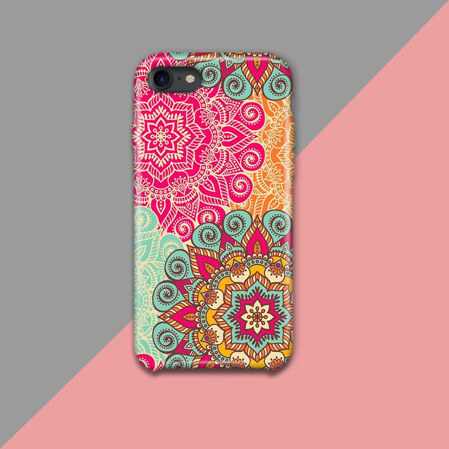 Pink and Yellow motif Pattern Design Phone Case