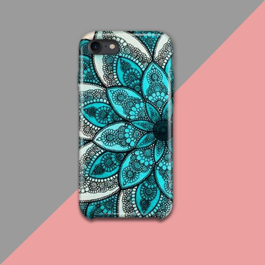 BLUE FLOWER MED Pattern Design Phone Case - Muggay.com - Mugs - Printing shop - truck Art mugs - Mug printing - Customized printing - Digital printing - Muggay
