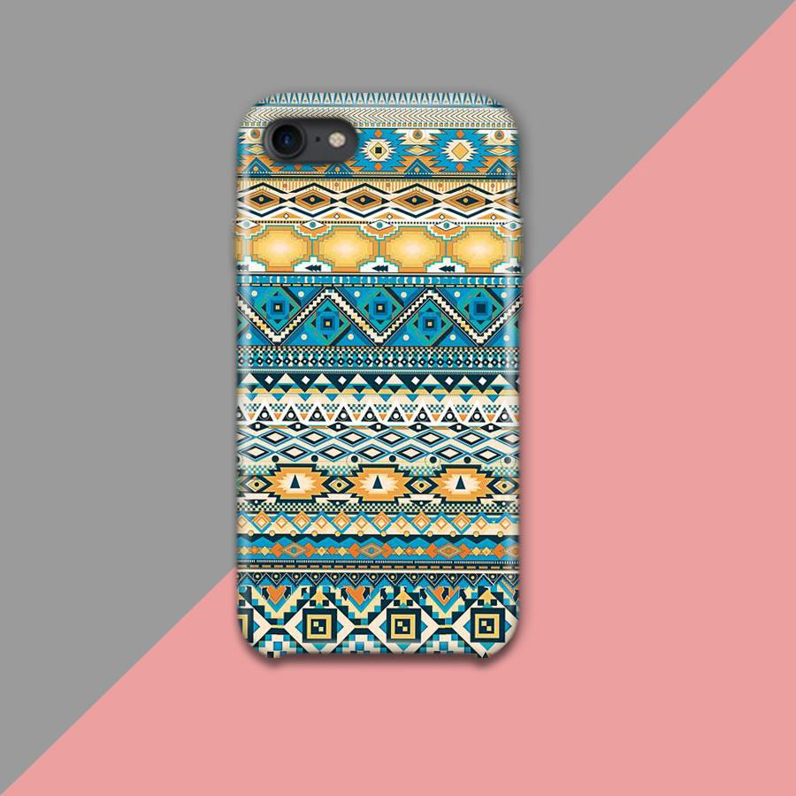 Glossy Blue and white Pattern Design Phone Case
