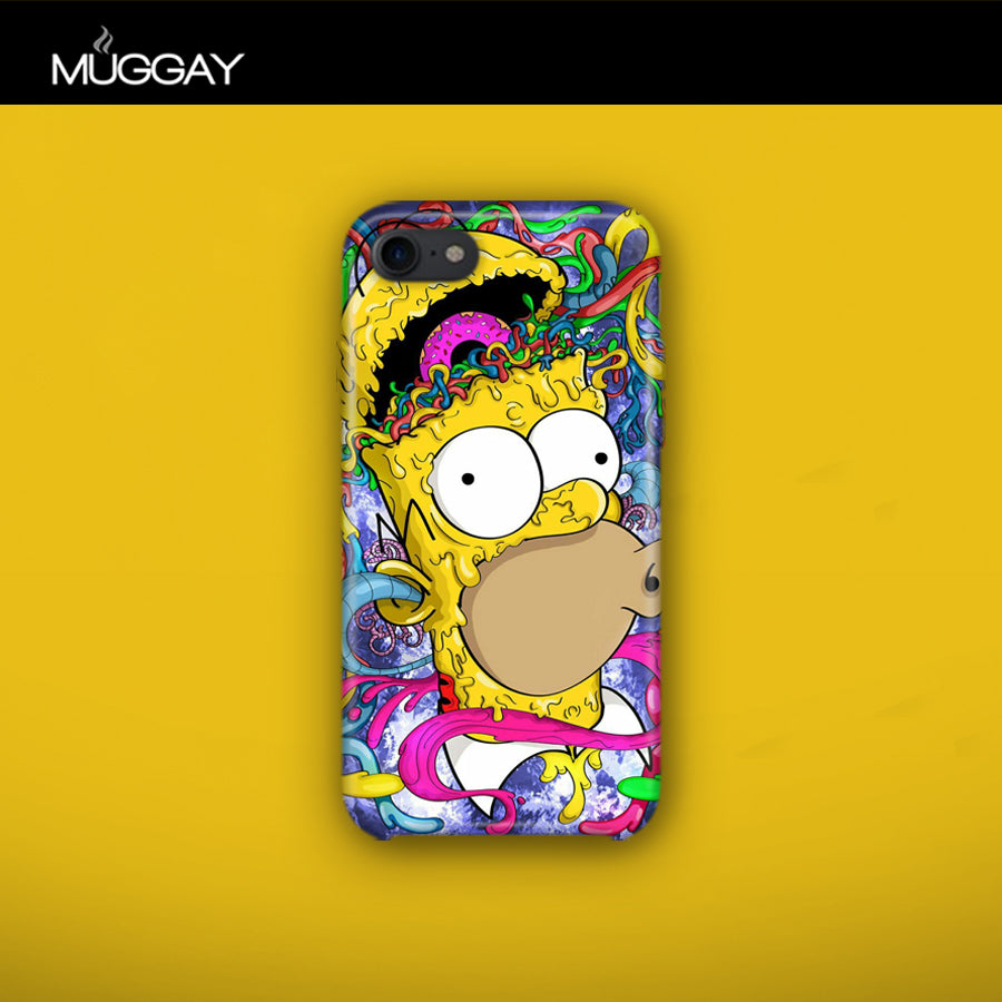 Mobile Covers -  Homer's face abstract