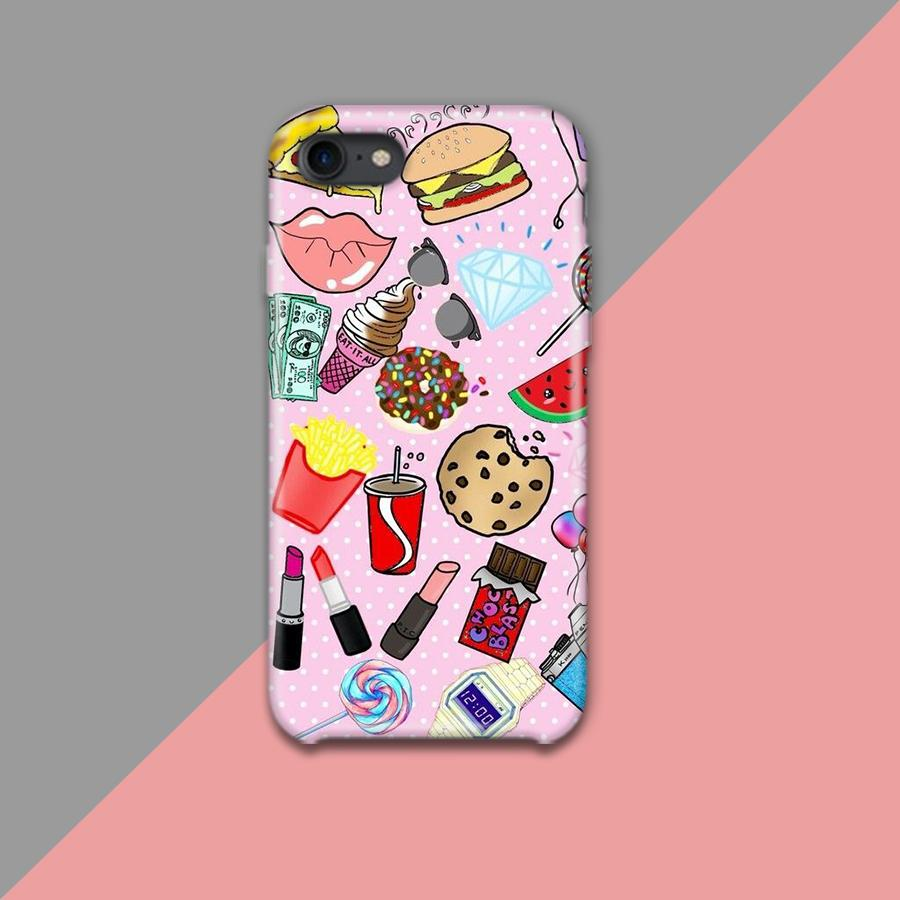 Food and Makeup Icon Design Phone Case
