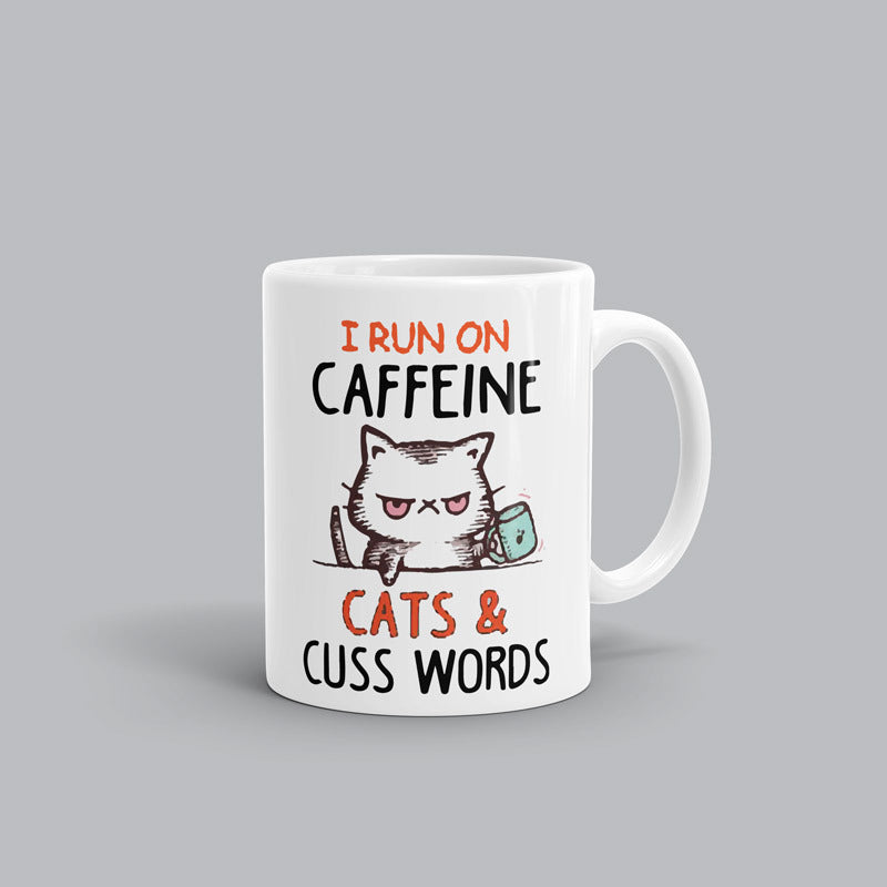 Caffeine and Cuss words AL Mug