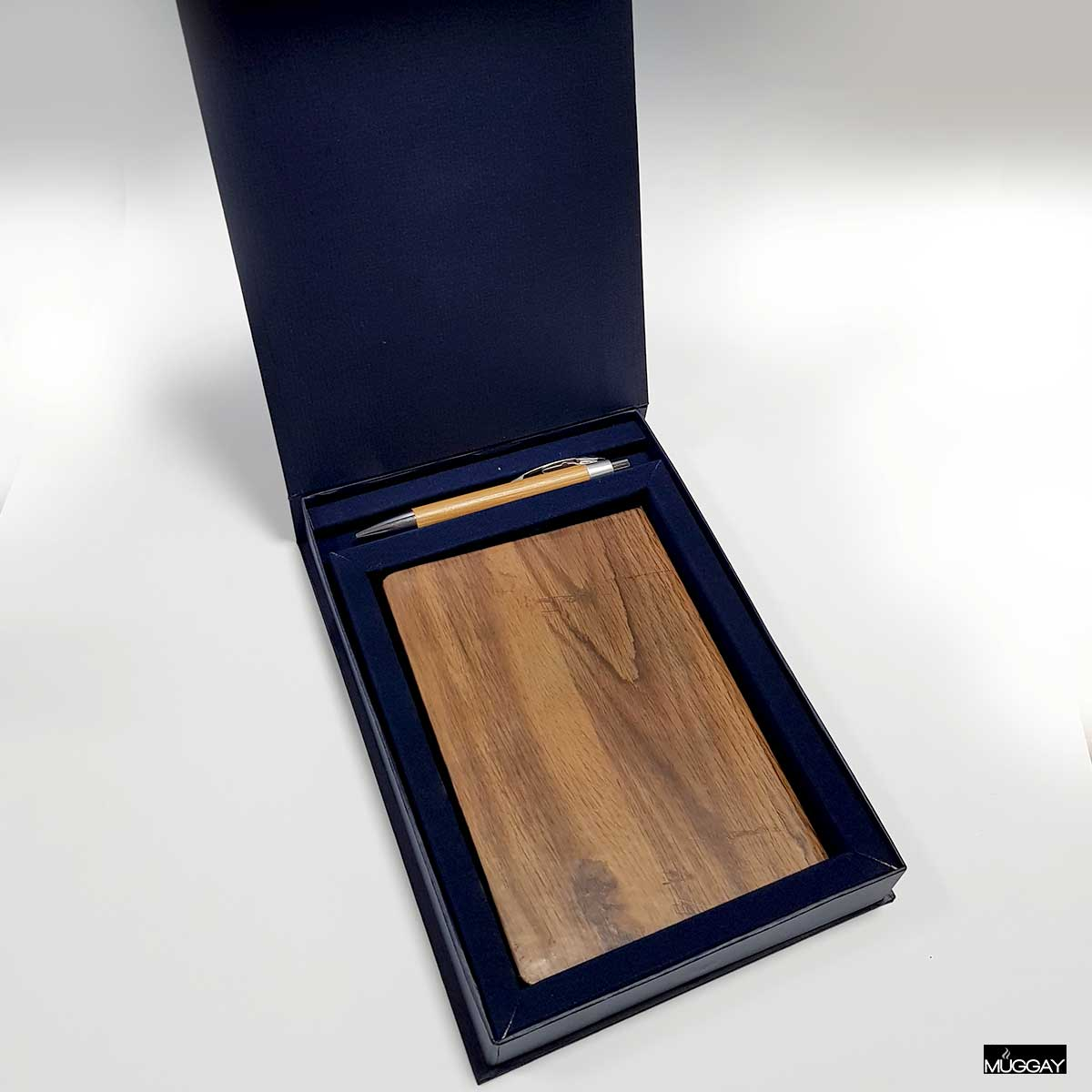 Premium Gift Box with Wooden journal and wooden Pen - Add your name