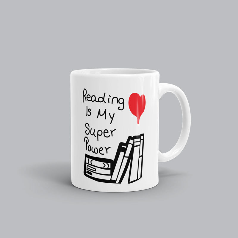 Reading super power Book Mug