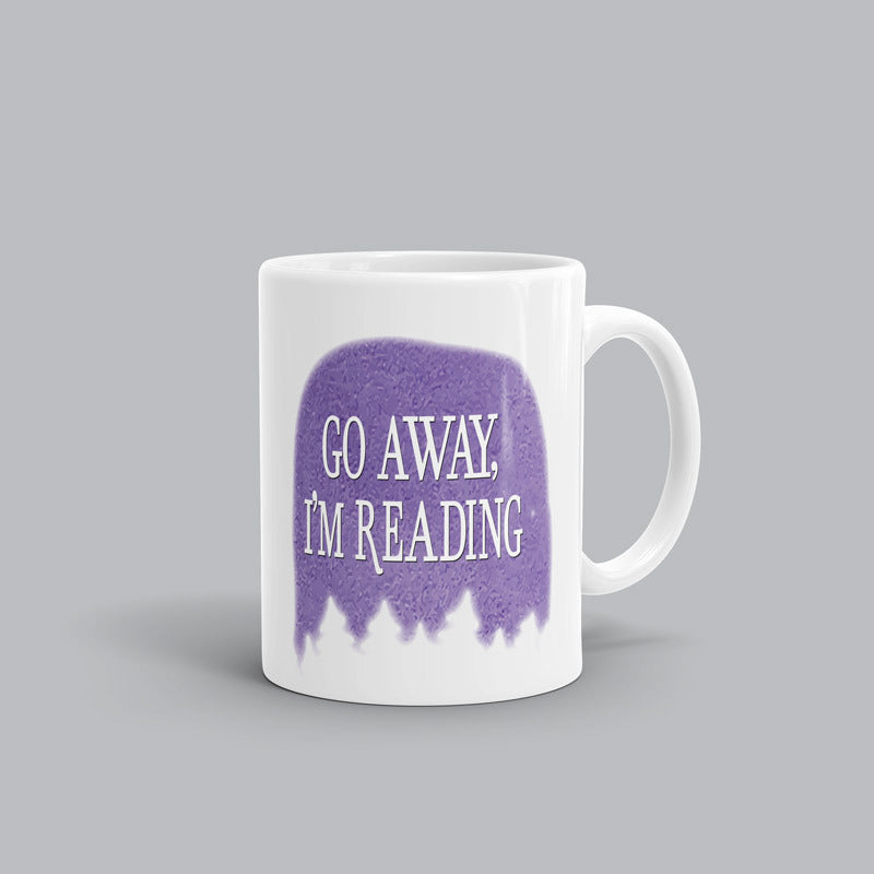 Go away, I'm reading Book Mug
