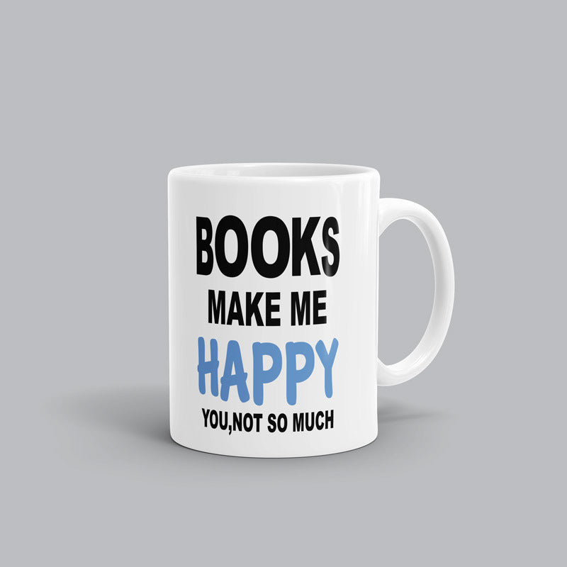 Make me happy Book Mug