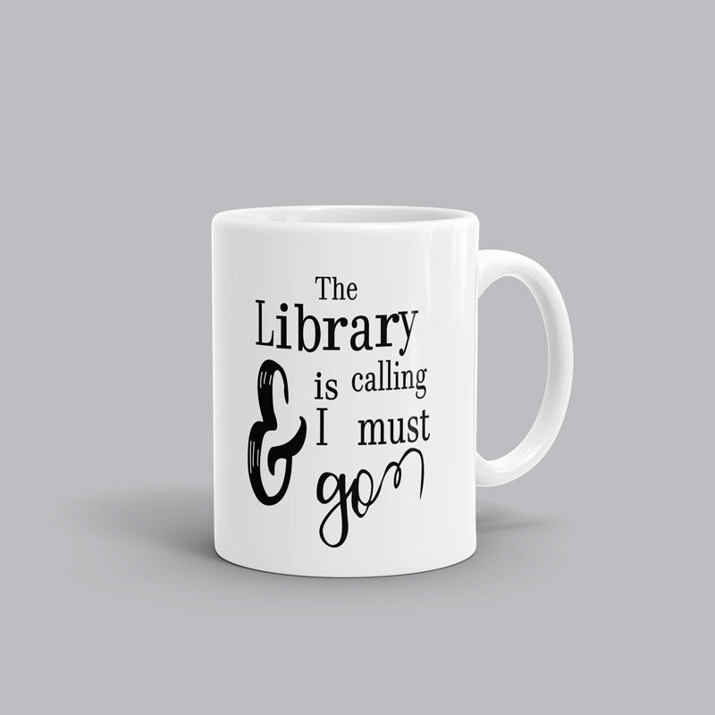 Library is calling Book Mug
