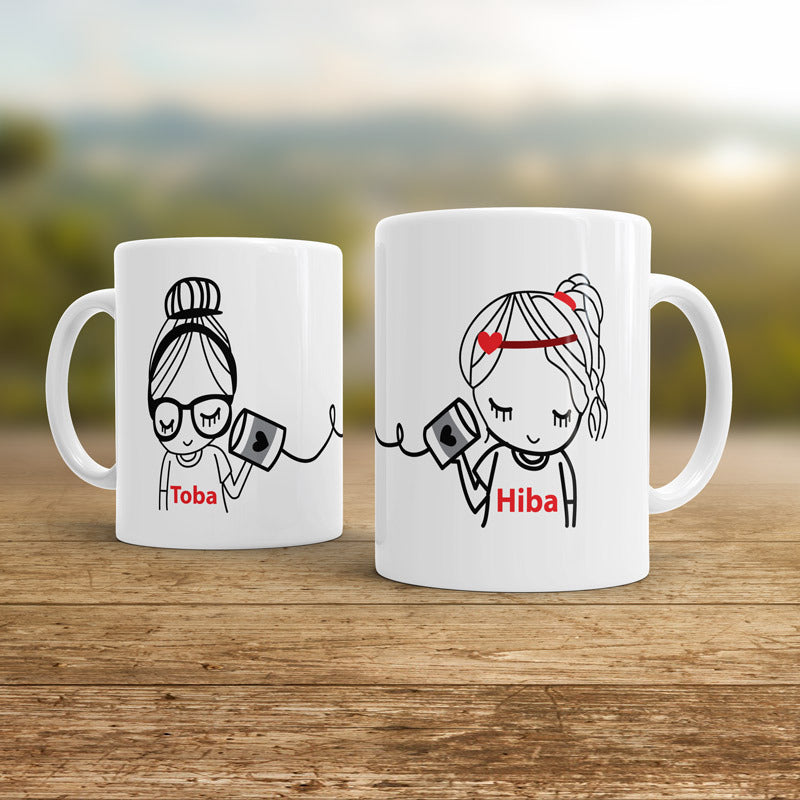 Girl connection mugs