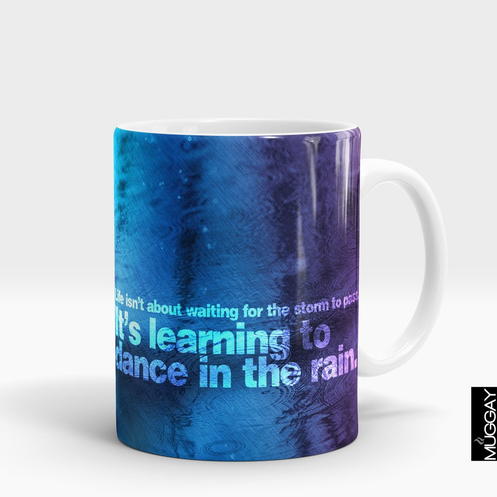 'Learning to Dance in the Rain' Rain Lover Mug