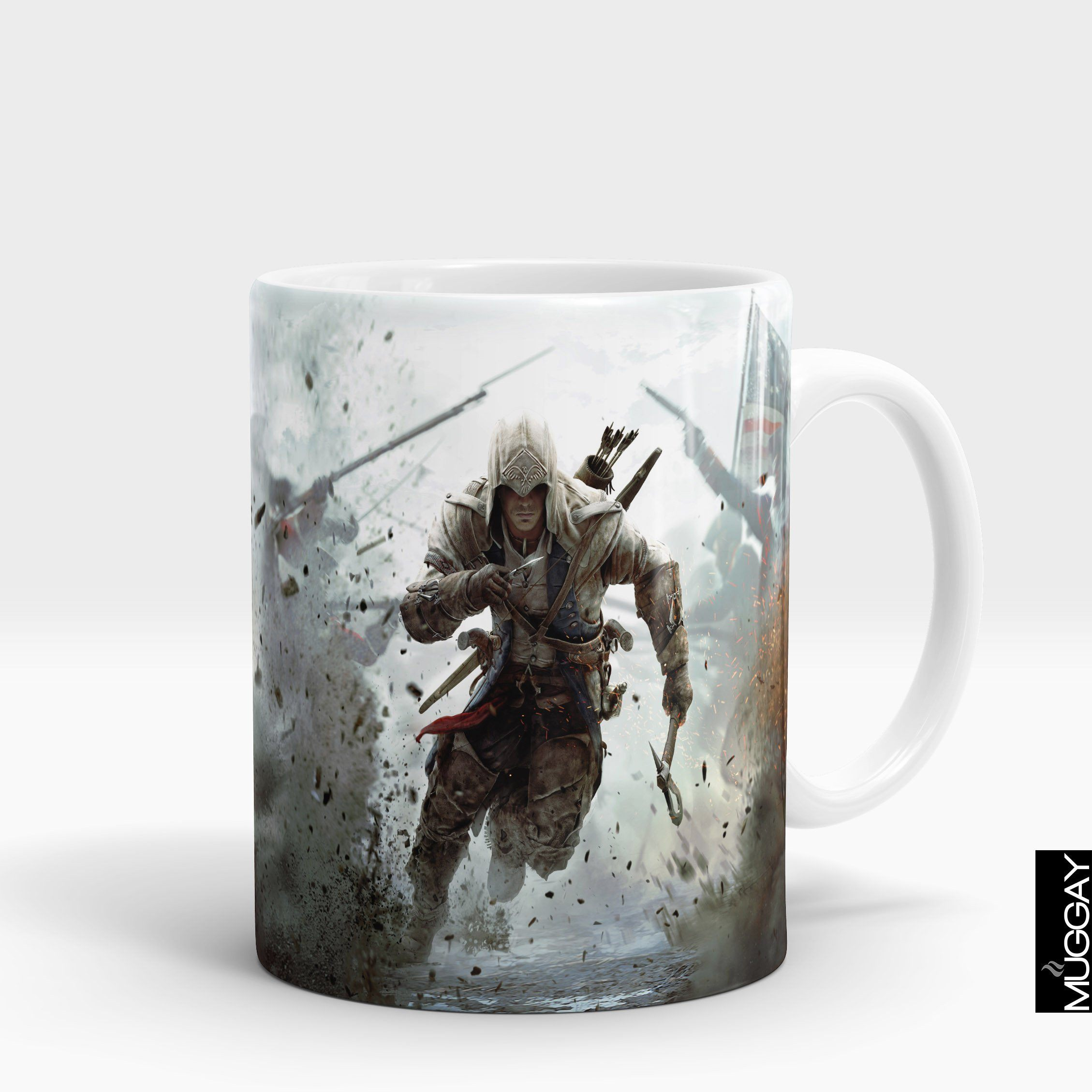 Assasins creed mugs - ac1 Assassins Creed Muggay.com white