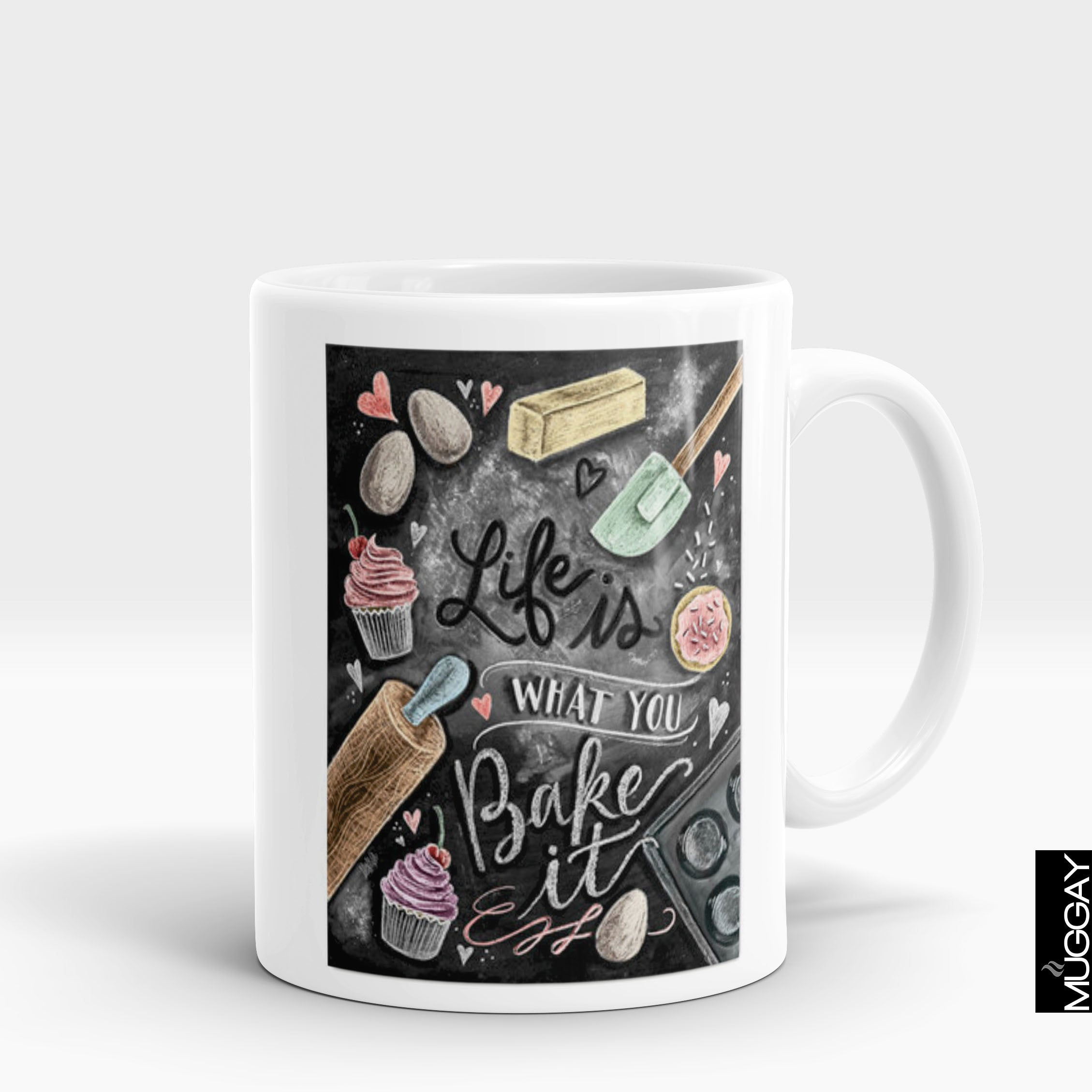 Baking Mug - bkr6 - Muggay.com - Mugs - Printing shop - truck Art mugs - Mug printing - Customized printing - Digital printing - Muggay