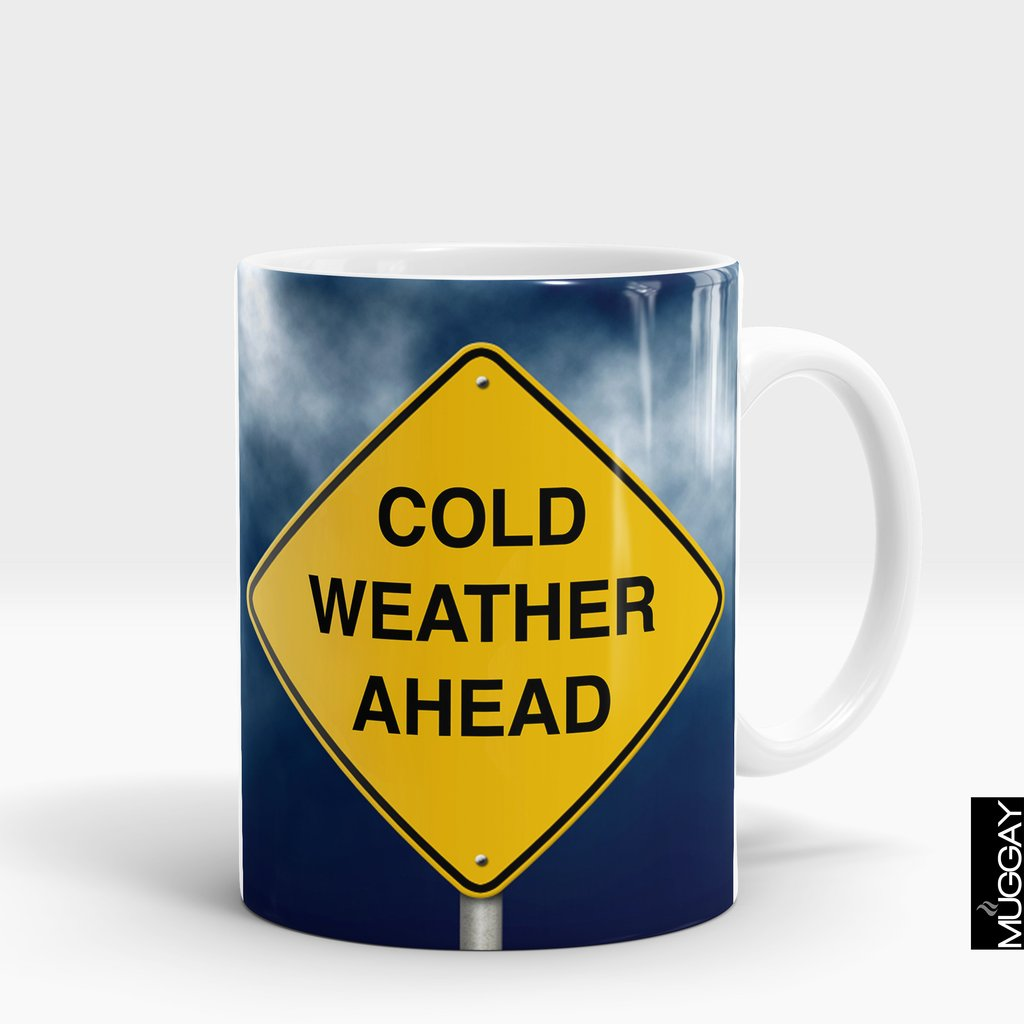 'Cold Weather Ahead' Winter Mug