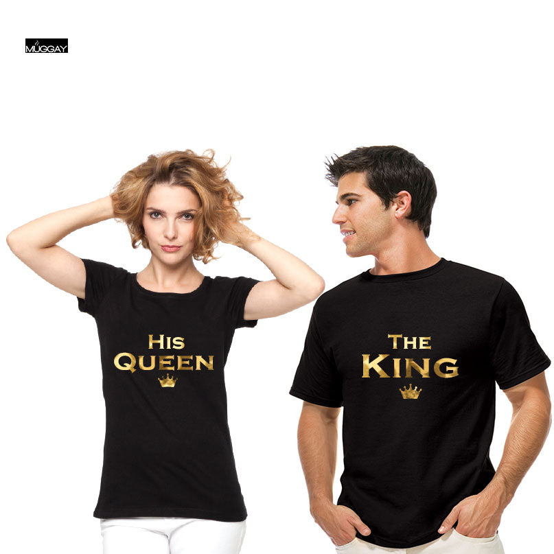 The King - His Queen Couple T shirts