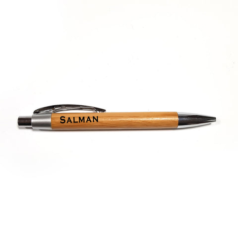Wooden pen - add your name