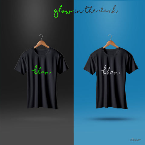 Glow in the Dark shirt - Add your Name