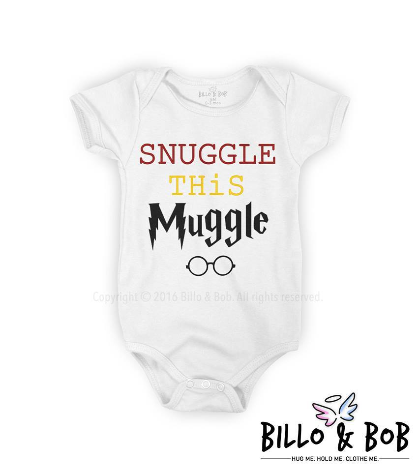 'Snuggle This Muggle' Baby Romper