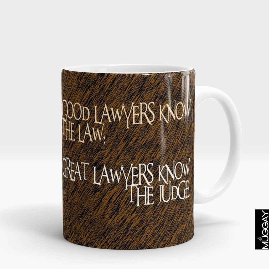 'Good Lawyers Know The Law' Lawyer Mug