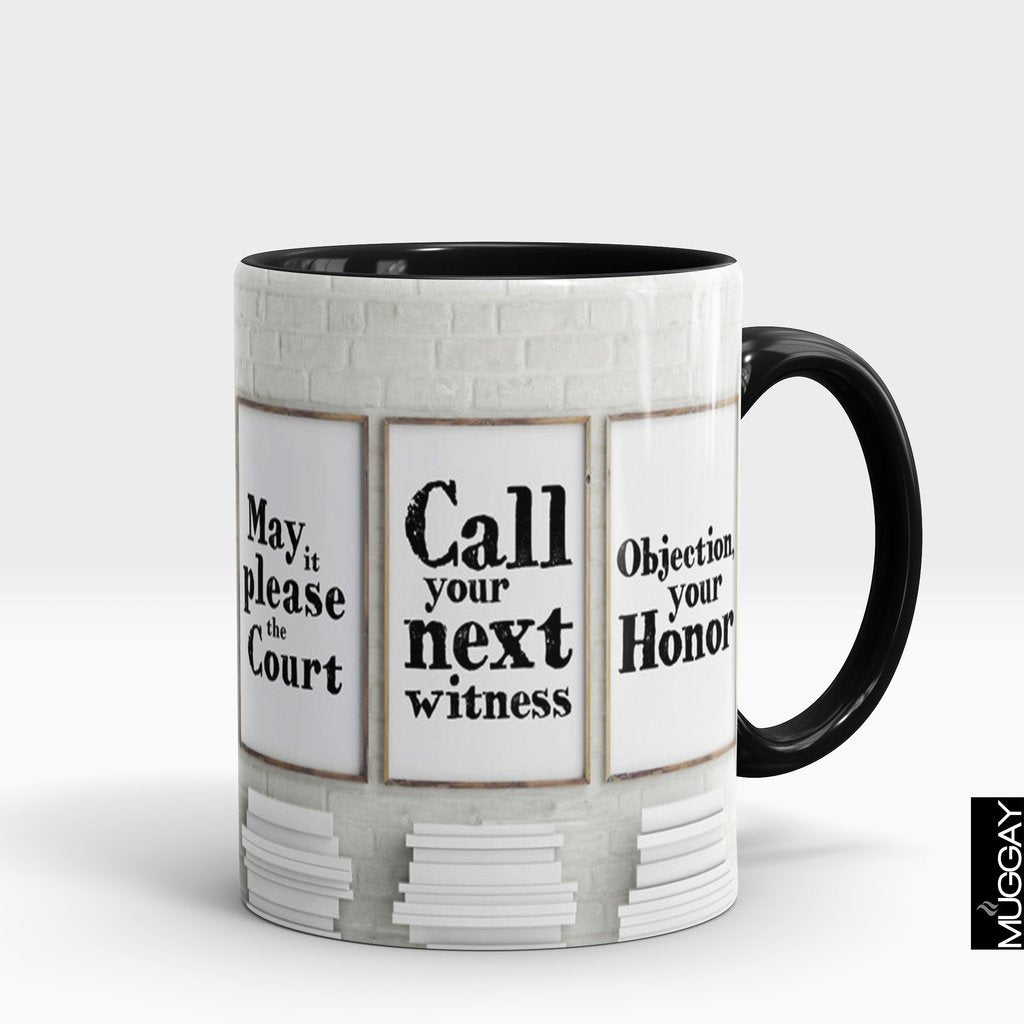 'Call Your Witness' Lawyer Mug