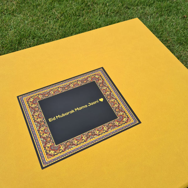 Yellow Gift Box with Motif