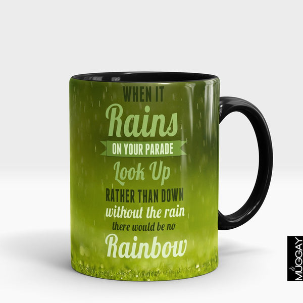 'When it Rains' Rain Lover Mug