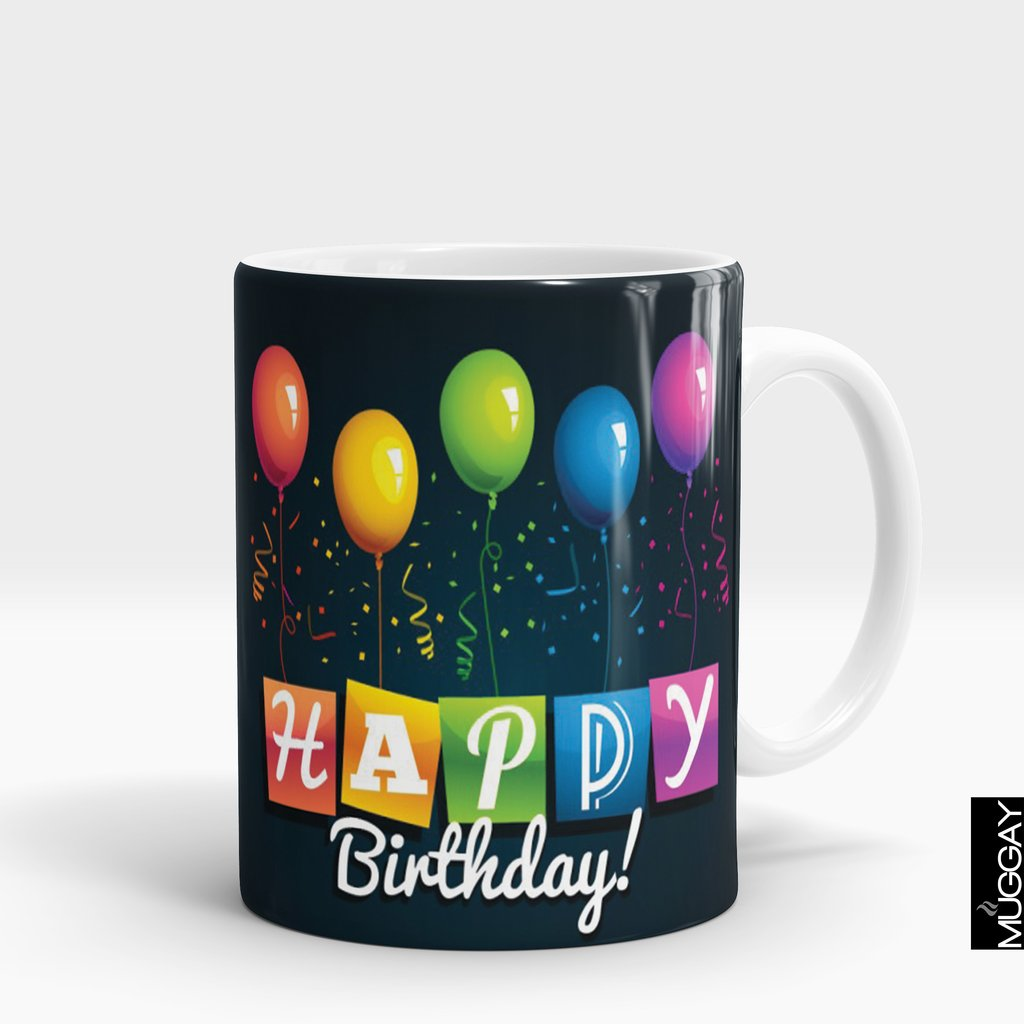 'Happy Birthday Balloon Banner' Mug