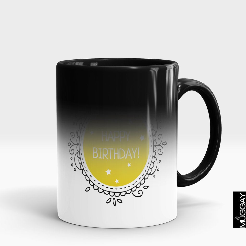 'Happy Birthday Motif' Mug