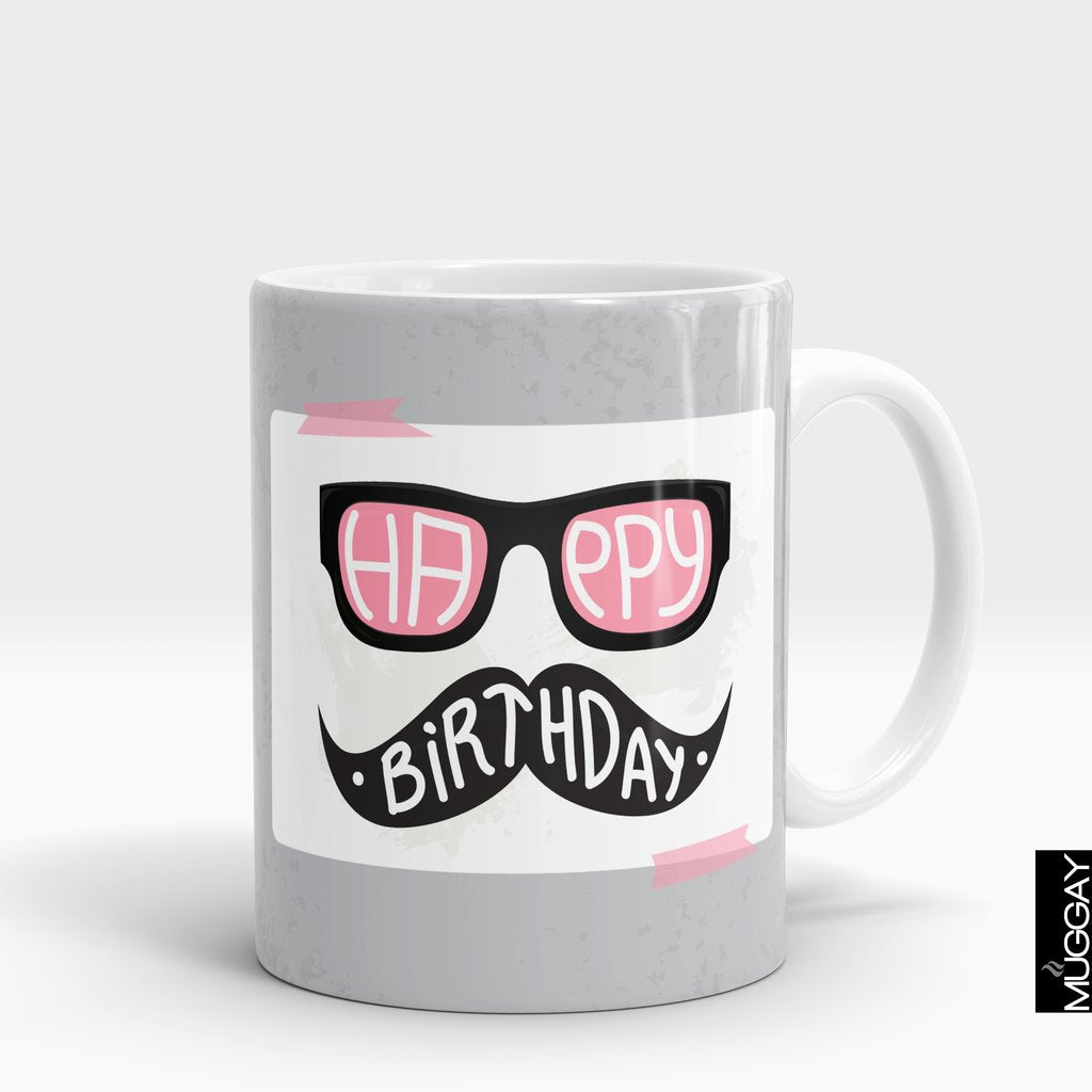 'Happy Birthday Moustache' Mug