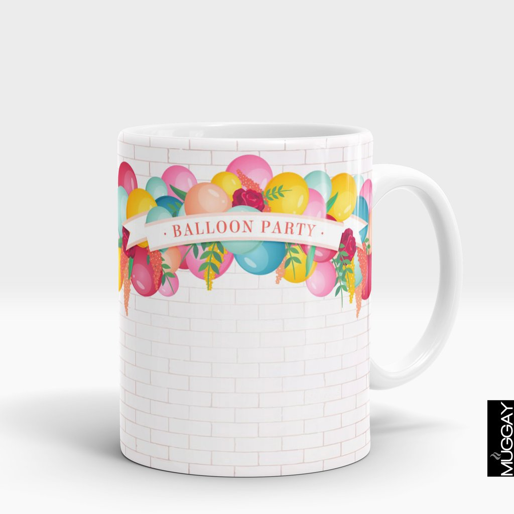 'Birthday Balloon Party' Mug