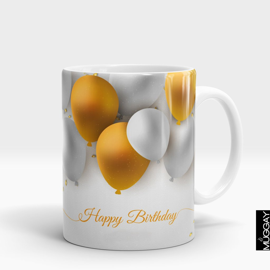 'Happy Birthday Balloon' Mug