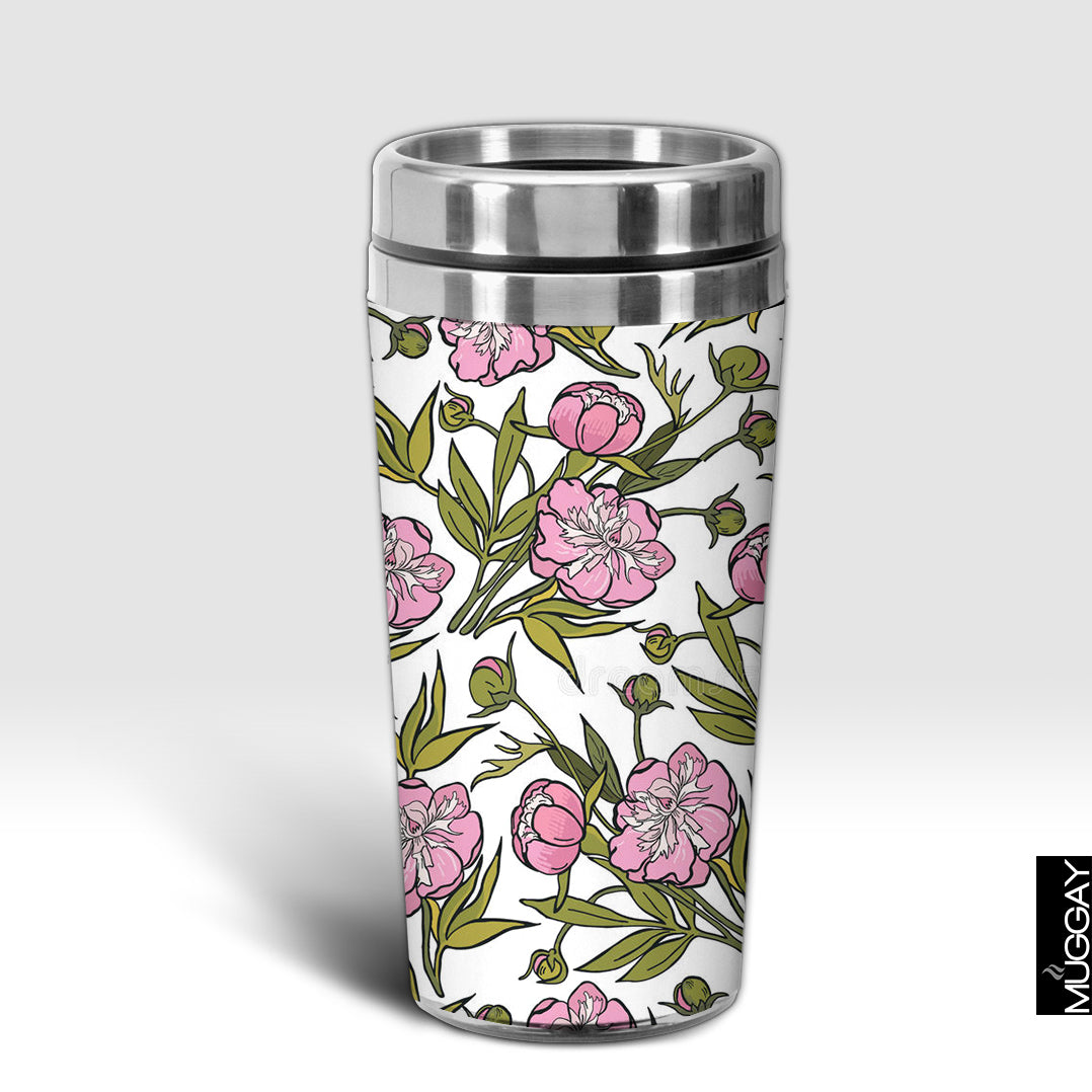 Pink flowers with Green Leaves Design Trug