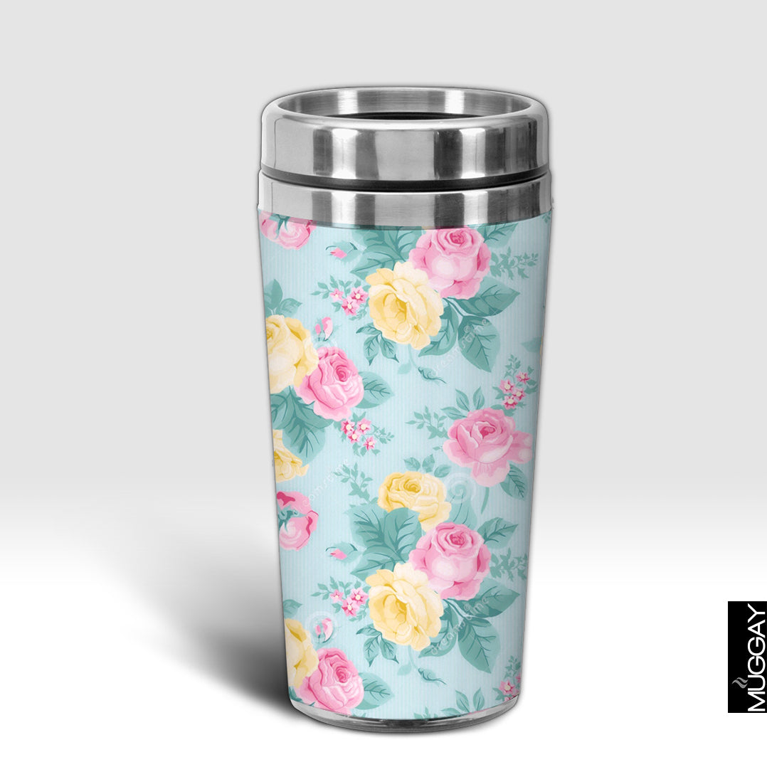 Yellow Pink Flowers Design Trug