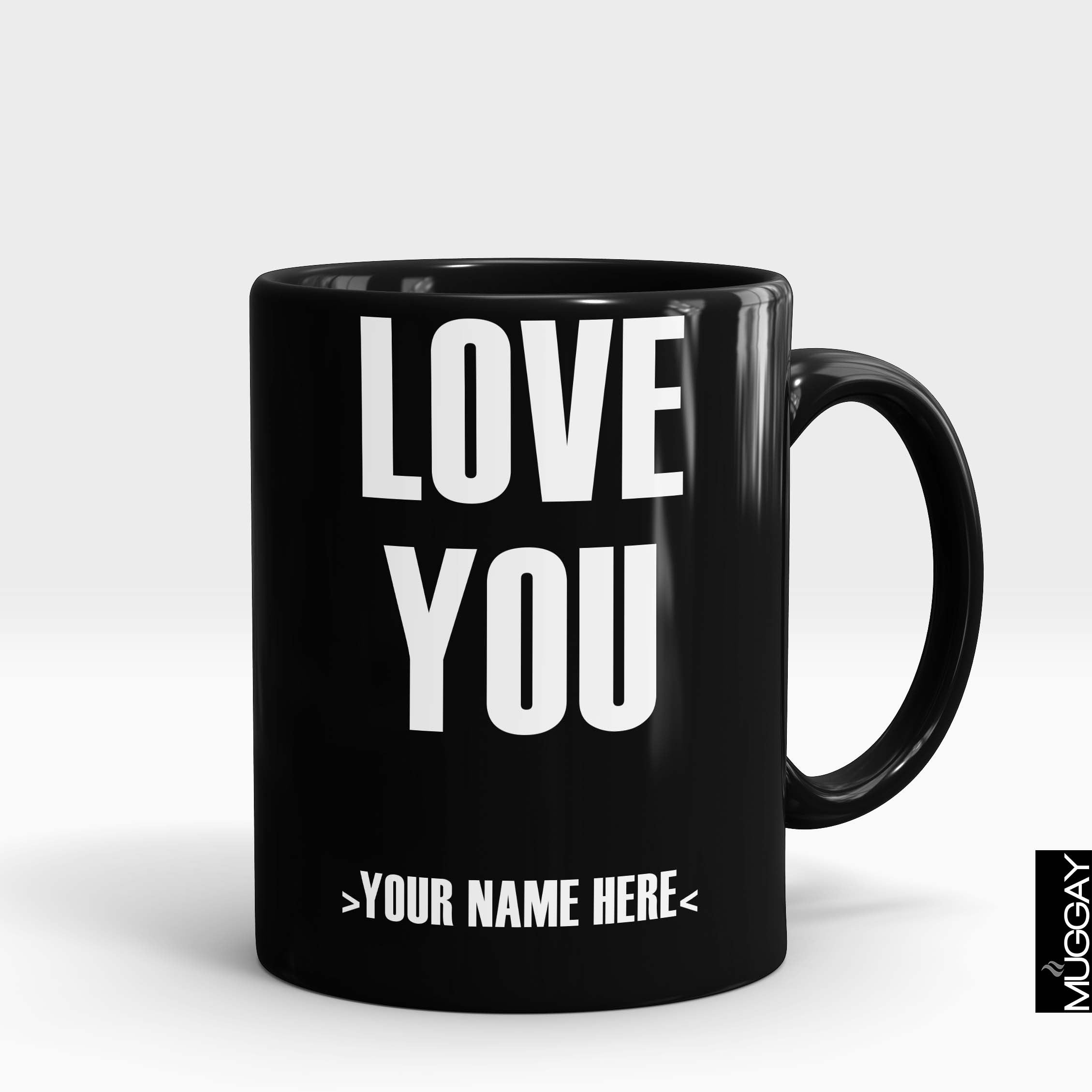 Love you Magic mug with Customized Name