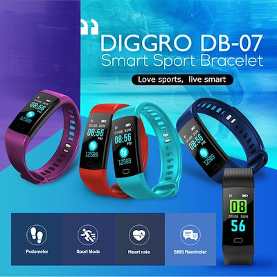 All about Diggro DB-07 Fitness Tracker
