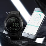 SKMEI Smart Men Calorie Pedometer Bluetooth Remote Camera Watch - urbehoof