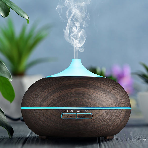 550ML Aroma Essential Oil Diffuser Ultrasonic Humidifier Large Capacity - urbehoof