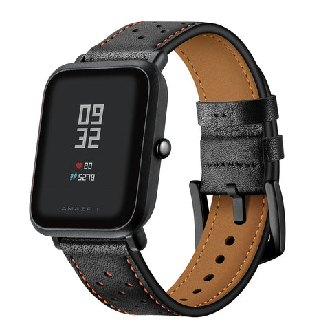 20MM Genuine Leather Wristband Bracelet Strap for Xiaomi Huami Amazfit Bip Youth - urbehoof