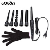 DODO 6 in 1 Hair Curler Curling Wand Iron Hair Styling Tool - urbehoof