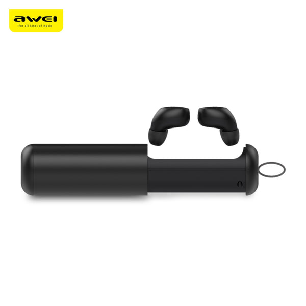 Awei T5 TWS Twins True Wireless Bluetooth V5.0 Earbuds with Charging Base - urbehoof