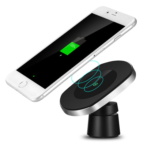 ZEEPIN W007 Nanometer-adsorption Wireless Car Charger for Qi-enabled Devices - urbehoof