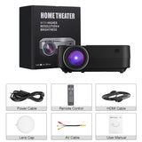 Excelvan Q6 Upgraded Mini Portable Multimedia Video projector 800*480 Home Cinema - urbehoof