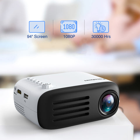 Excelvan YG200 1080P Mini Multimedia Projector - urbehoof