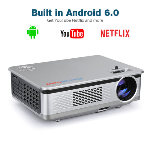 Excelvan HT60 Projector Android 1080P LCD LED Lamp Home Cinema Theater Video Games WIFI - urbehoof