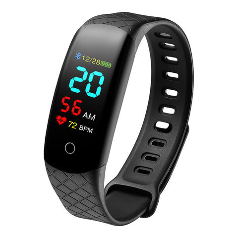 CB608 Smart Bracelet Heart Rate Waterproof Watch Step Sleep Monitoring SMS Display - urbehoof