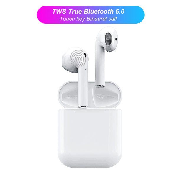 i12 TWS Bluetooth 5.0 Headphone Sports Sweatproof True Wireless Touch Earphones - urbehoof