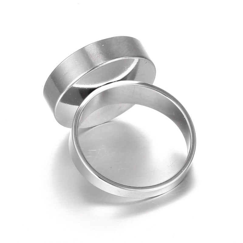 Stainless Steel Cocktail Ring